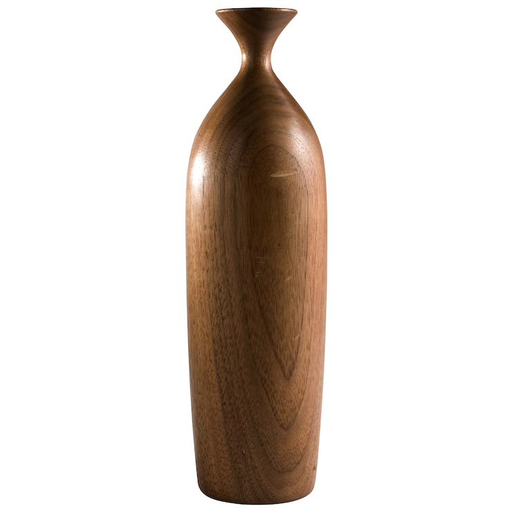 George Biersdorf Vintage Turned Wood Vase Cypress Studio Ruby Lane
