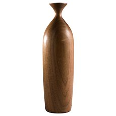 George Biersdorf Vintage Turned Wood Vase