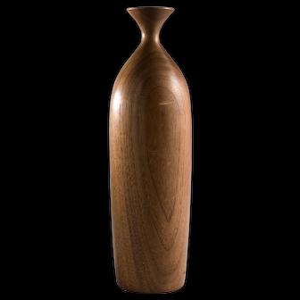 George Biersdorf Vintage Turned Wood Vase