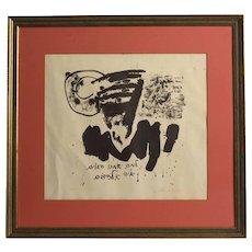 Harold Spivack, Woodblock Print, FLUXUS ARTIST, 1965