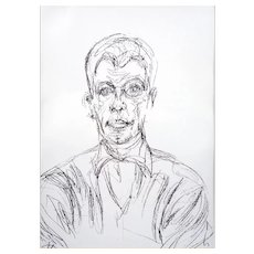 "Limited Edition Lithograph by Alberto Giacometti, ""Diego Head of a Man"""