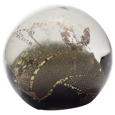 Randy Strong Glass Paperweight, California Studio Art Glass