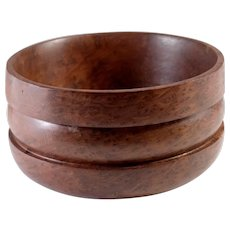Old Growth Redwood Turned Wood Bowl by Vernon Roberts (California 1926-2003)