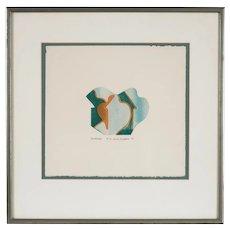 """Diane Divelbess Relief Print """"Landscape"""", 1972"""