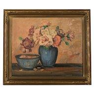 Mid Century Oil Painting, Signed Merriam