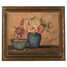 Mid Century Oil Painting, Signed Merriam