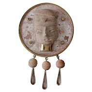 Annette Nancarrow Pendant Brooch Pre Columbian Pottery circa 1930's-1940's