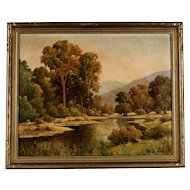 Large Original Oil Plein Air Painting by Oliver Glen Barrett (1903-1970)