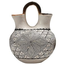 Vintage Acoma Wedding Vase by Pablita Concho (1901-1993)