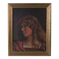 Pre Raphaelite Manner Painting, Early 20th Century
