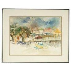 B. Tucker Watercolor Painting, 20th Century American