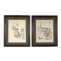 Ira Moskowitz,  Pair of Mid-Century Lithographs, Judaic Art