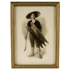 Vintage Silver Bromide Photograph, Philippine Igorot Tribesman