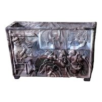 "Victorian Sowerby Malachite Slag  Glass ""NURSERY RHYME"" Posey Tray"