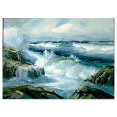 Original Emile (Emil) Jacques (1874-1937) Seascape Painting, Circa 1920's