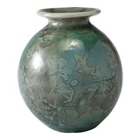 Vintage 1990 Ray West – Camp Nelson period, Crystalline Glaze Flared Mouth Vase