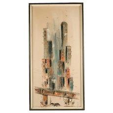 Dorwin Mid Century Cityscape