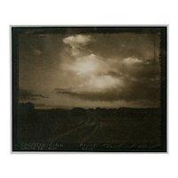 "David Michael Kennedy, Original Palladium Print, ""Galisteo Road Santa Fe, N.M."""