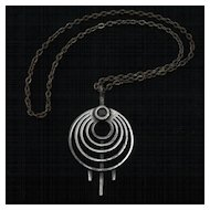 Vintage 1970's Modernist Steel Necklace