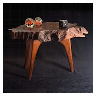 1970's Redwood Burl Modernist Table