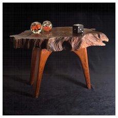 1970's Redwood Burl Modernist Table