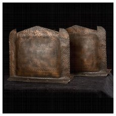 """Fabulous Vintage Hammered Copper """"Galleon"""" Bookends"""