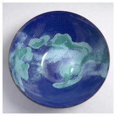 Barbara Pelowski enamel bowl c.1977