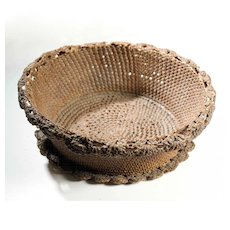 Vintage Folk Art Basket
