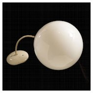 Vintage 1970's Hanging Globe Ceiling Lamp Fixture
