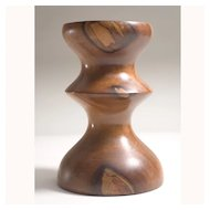 Vintage Modernist Wood Sculpture