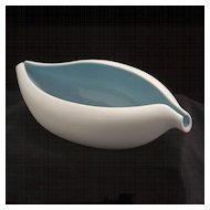 """BAHARI"" Free Form Porcelain Bowl, Modernist Design"