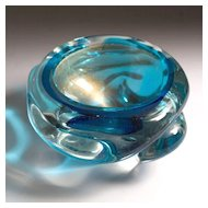 Murano glass bowl by Flavio Poli for Seguso, circa 1930's-1950's