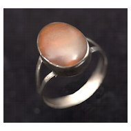 Vintage 1950's-1960's Taxco Mexican Sterling and Carnelian Ring