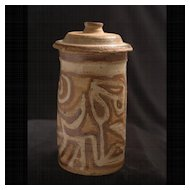 American Studio Craft Earthen Lidded Canister, c.1970's