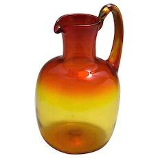 Mid-Century Blenko Amberina Art Glass Pitcher