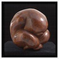 20th Century Modernist Manner Wood Sculpture