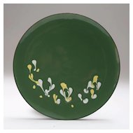 Signed Mid-Century Copper Enamel Plate