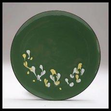 Signed Mid-Century Copper Enamel Plate