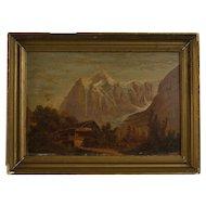 European School Tyrolean Landscape, 19th Century oil on board