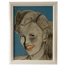 """Billy Jean"" Original Pop Art Pastel Drawing"