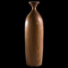 Vintage Turned Wood Vase, by George Biersdorf