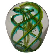 Vintage Art Glass Paperweight signed Robert L. Hamon