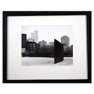 Gelatin Silver Photograph by Gwen Thomas, Richard Serra Sculpture, circa 1975/1980