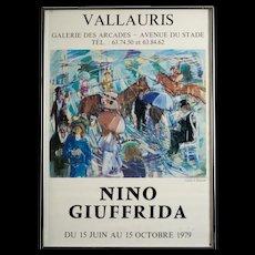Vintage Nino Giuffrida Poster, Signed, Circa 1979