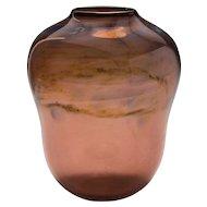 """""""Chico School"""" Silver Oxide Art Glass """"Puff"""" Vase, circa 1979"""