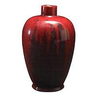 Crown Staffordshire Art Deco Flambé Vase