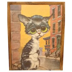 "Pity Kitty ""Cleo"" Print by Gig (unsigned)"