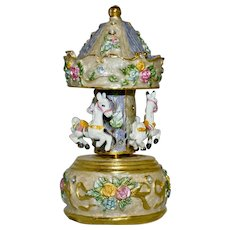 "Musical Carousel Beautifully Created and plays ""Dance of the Sugar Plum Fairy"""