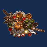 Vintage Unsigned Fruit Salad Brooch