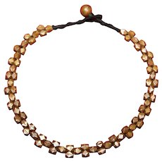 Vintage Copper Beaded Rope Necklace